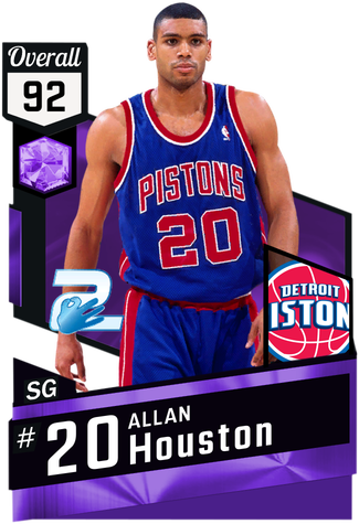 '03 Allan Houston amethyst card