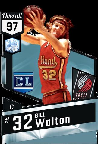 '74 Bill Walton diamond card