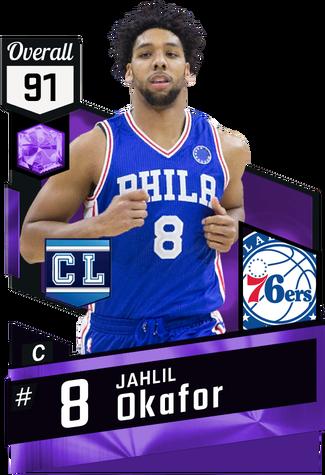 '15 Jahlil Okafor amethyst card