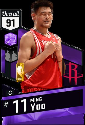 '08 Ming Yao amethyst card