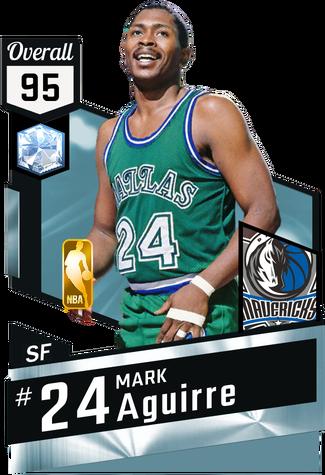 '84 Mark Aguirre diamond card