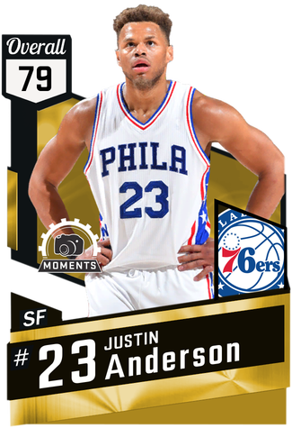 Justin Anderson gold card