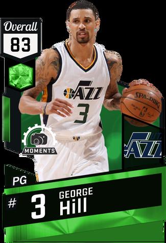 George Hill emerald card
