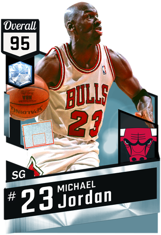 '98 Michael Jordan diamond card