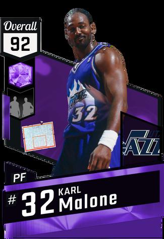 '98 Karl Malone amethyst card