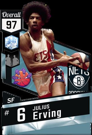 '72 Julius Erving diamond card