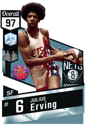 '72 Julius Erving diamond card