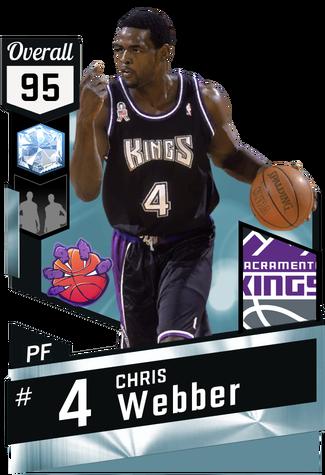 '02 Chris Webber diamond card