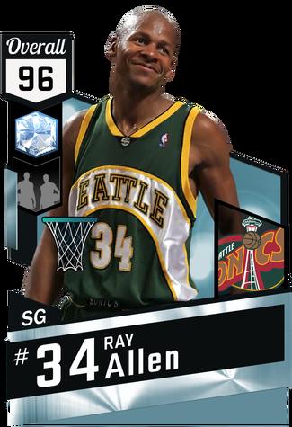 '06 Ray Allen diamond card