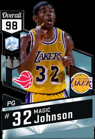 '87 Magic Johnson diamond card