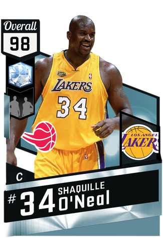 '01 Shaquille O'Neal diamond card