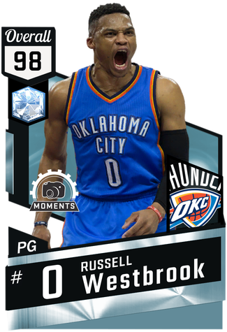Russell Westbrook diamond card