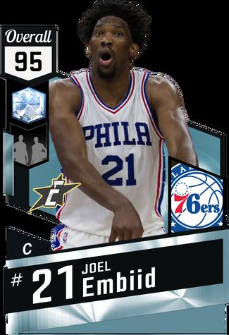 Joel Embiid diamond card
