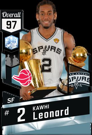 '14 Kawhi Leonard diamond card