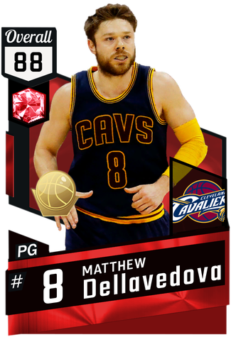 '15 Matthew Dellavedova ruby card