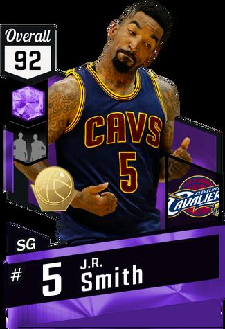 '15 J.R. Smith amethyst card