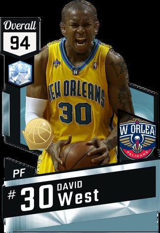 '08 David West diamond card