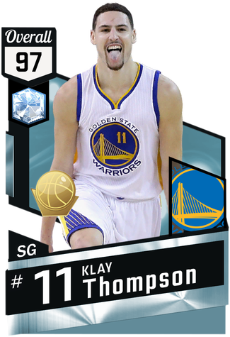 Klay Thompson diamond card