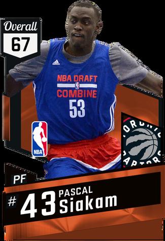 Pascal Siakam bronze card