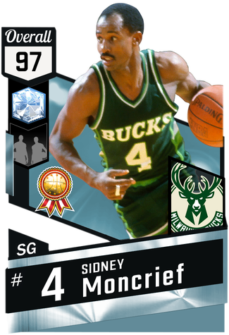 '83 Sidney Moncrief diamond card