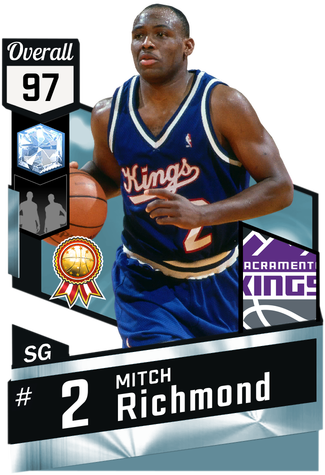 '97 Mitch Richmond diamond card