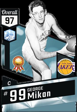 '51 George Mikan diamond card