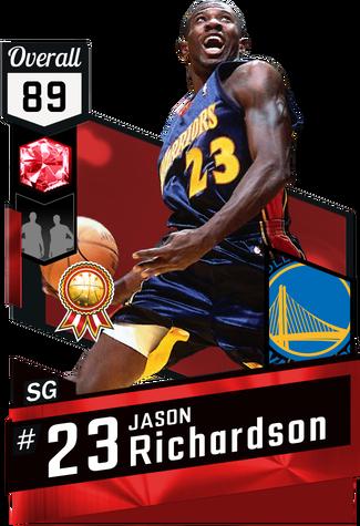 '01 Jason Richardson ruby card