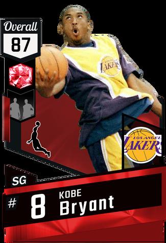 '98 Kobe Bryant ruby card