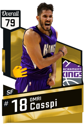 '11 Omri Casspi gold card