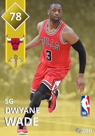 Dwyane Wade gold card