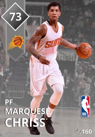 Marquese Chriss silver card