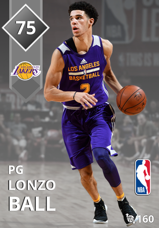 Lonzo Ball silver card