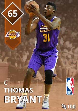 Thomas Bryant bronze card