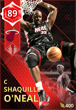 '10 Shaquille O'Neal ruby card