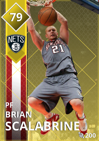 '12 Brian Scalabrine gold card