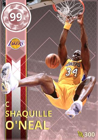 05 Shaquille O Neal 99 Nba 2k18 Myteam Pink Diamond Card