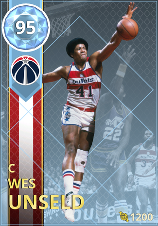 '73 Wes Unseld diamond card