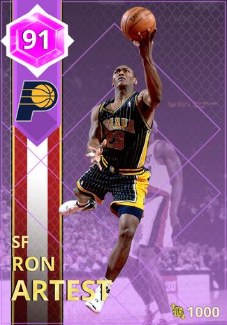 '08 Ron Artest amethyst card