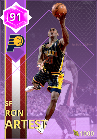 '08 Ron Artest amethyst card