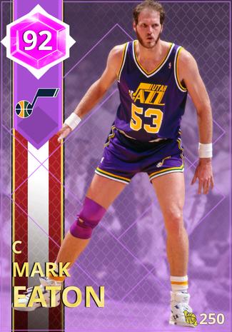 '86 Mark Eaton amethyst card