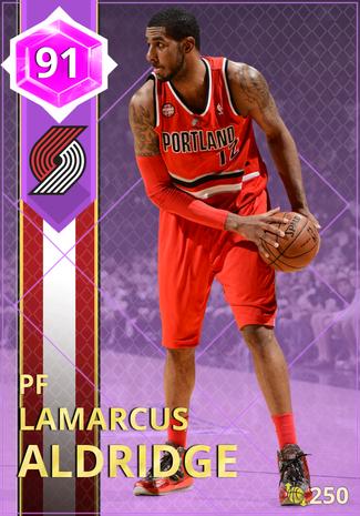 '14 LaMarcus Aldridge amethyst card
