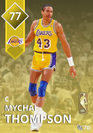 '84 Mychal Thompson gold card