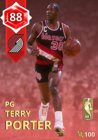 '92 Terry Porter ruby card