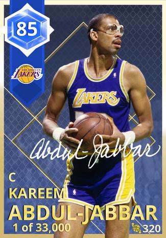 '92 Kareem Abdul-Jabbar sapphire card