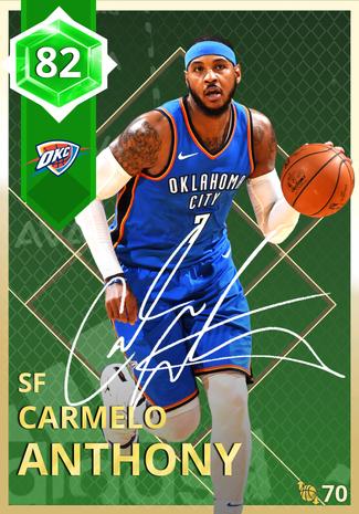 Carmelo Anthony emerald card