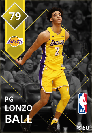 Lonzo Ball gold card