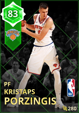 Kristaps Porzingis emerald card
