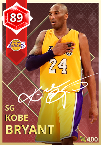'19 Kobe Bryant ruby card
