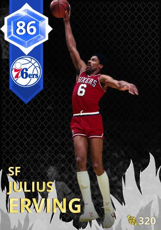 '90 Julius Erving sapphire card