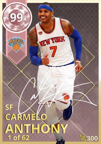 '18 Carmelo Anthony pinkdiamond card